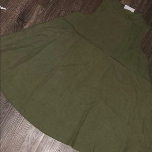 Army green muscle tank dress